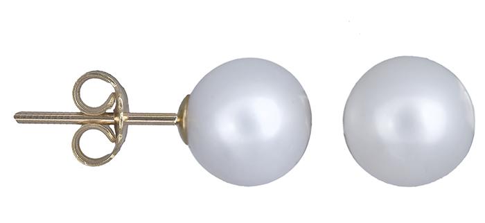 Γυναικεία σκουλαρίκια με μαργαριτάρια 011033 011033 Χρυσός 14 Καράτια χρυσά κοσμήματα σκουλαρίκια καρφωτά