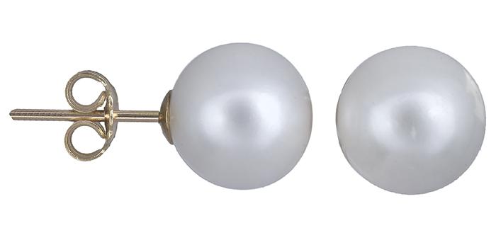 Σκουλαρίκια με μαργαριτάρια Κ14 011034 011034 Χρυσός 14 Καράτια χρυσά κοσμήματα σκουλαρίκια καρφωτά
