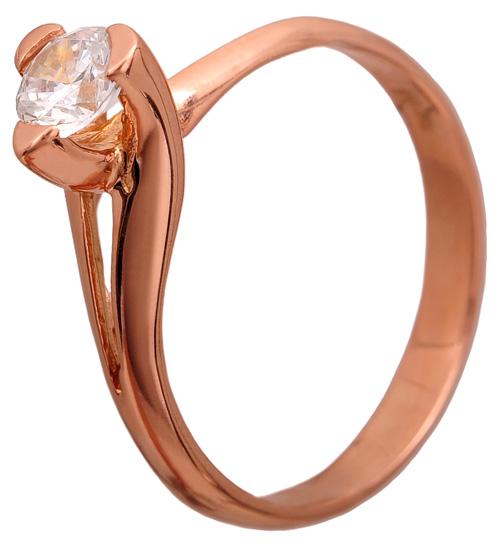 Δαχτυλίδι μονόπετρο 14Κ 011104 Χρυσός 14 Καράτια