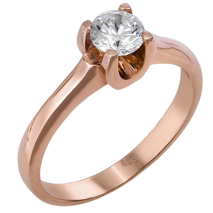 Δαχτυλίδι μονόπετρο 14Κ 011106 Χρυσός 14 Καράτια