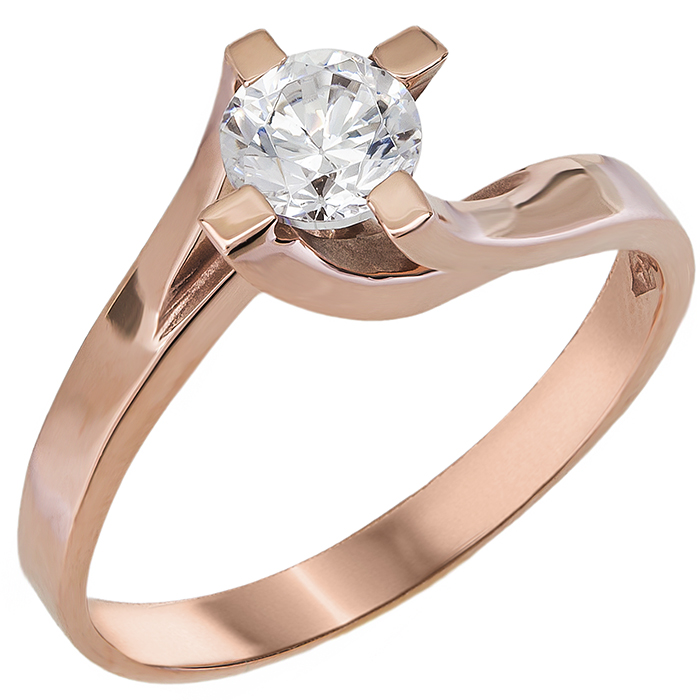 Μονόπετρο ροζ δαχτυλίδι Κ14 011107 011107 Χρυσός 14 Καράτια fefcff45564