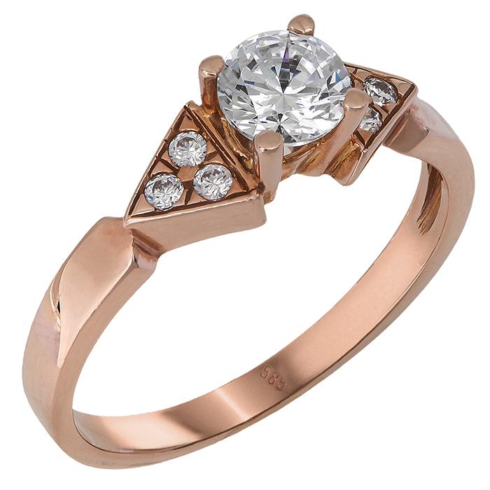 Δαχτυλίδι ροζ χρυσό 14Κ 011109 Χρυσός 14 Καράτια