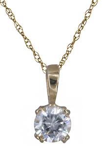 Κολιε με πέτρα ζιργκόν Κ14 011117 011117 Χρυσός 14 Καράτια