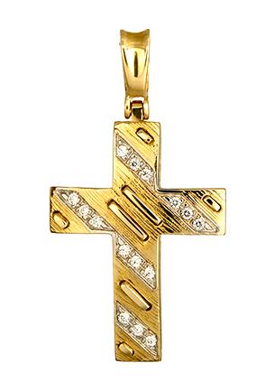 Σταυροί Βάπτισης - Αρραβώνα Χρυσός Γυναικείος Σταυρός 011188 Γυναικείο Χρυσός 14 Καράτια