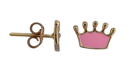 Παιδικά σκουλαρίκια κορώνα 011194 011194 Χρυσός 14 Καράτια e3f0b935186