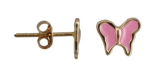 Παιδικά σκουλαρίκια πεταλούδα 011204 011204 Χρυσός 14 Καράτια