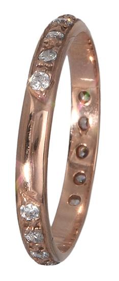 Ροζ gold δαχτυλίδι 14K 011229 011229 Χρυσός 14 Καράτια