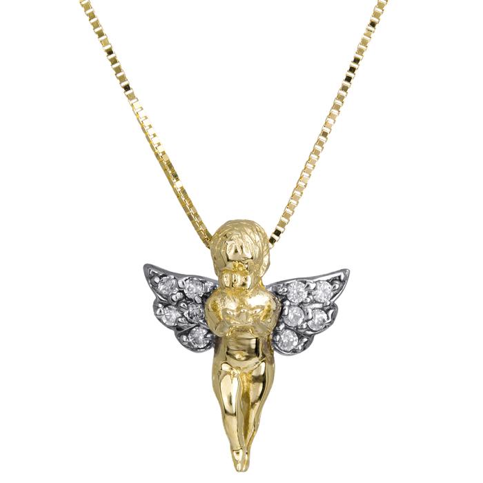 Δίχρωμος άγγελος 14Κ 011280 Χρυσός 14 Καράτια