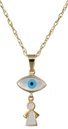 Κολιέ χρυσό με μάτι 011295 011295 Χρυσός 14 Καράτια