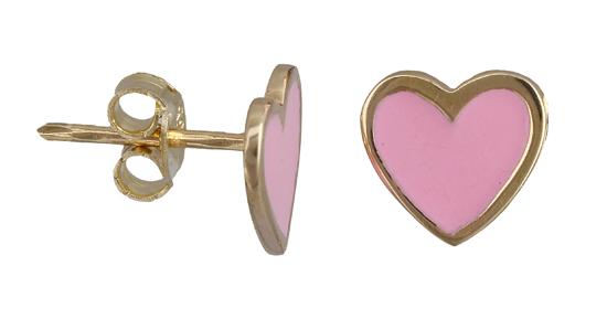 Παιδικά σκουλαρίκια καρδιά 011298 011298 Χρυσός 14 Καράτια