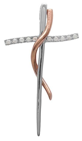 Σταυροί Βάπτισης - Αρραβώνα Ροζ gold σταυρός 14Κ 011386 011386 Γυναικείο Χρυσός 14 Καράτια