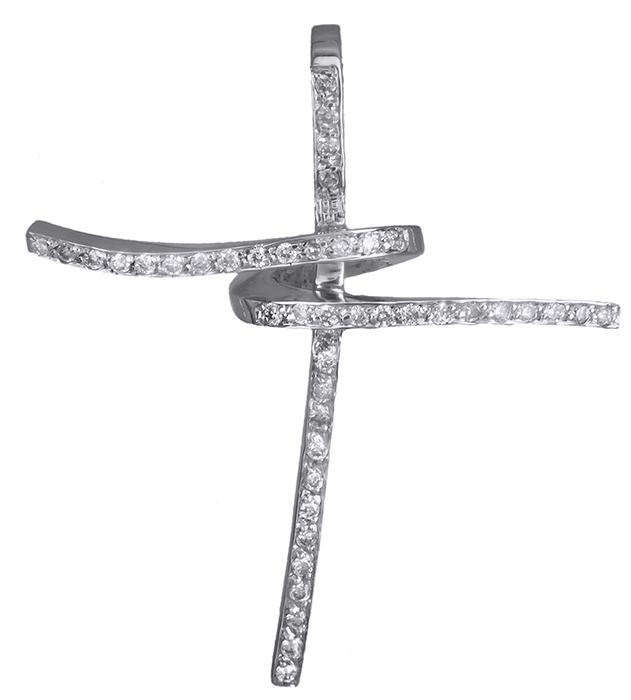 Σταυροί Βάπτισης - Αρραβώνα Λευκόχρυσος σταυρός 18Κ με διαμάντια 011394 011394 Γυναικείο Χρυσός 18 Καράτια