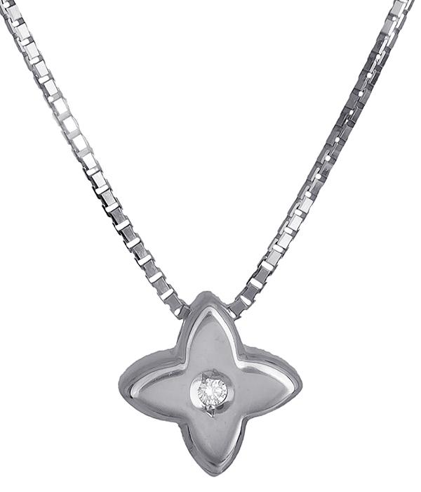 Σταυρός λευκόχρυσος 18Κ με διαμάντι 011406 011406 Χρυσός 18 Καράτια χρυσά κοσμήματα σταυροί
