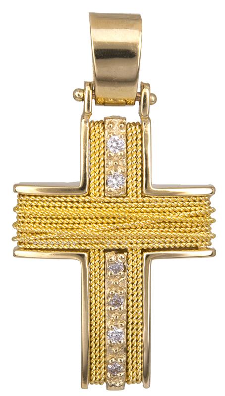 Σταυροί Βάπτισης - Αρραβώνα Χειροποίητος Χρυσός Σταυρός 9Κ 014753 014753 Γυναικείο Χρυσός 9 Καράτια