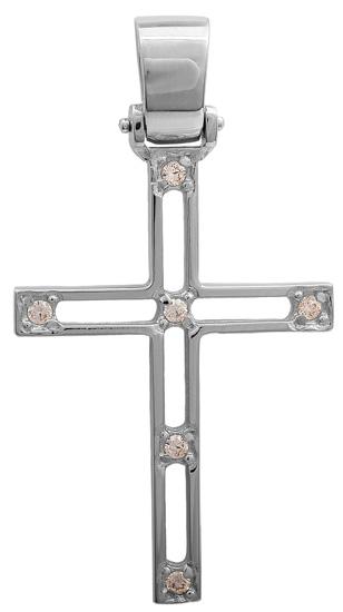 Σταυροί Βάπτισης - Αρραβώνα Λευκόχρυσος σταυρός 14Κ 011441 011441 Γυναικείο Χρυσός 14 Καράτια