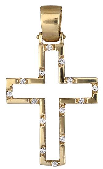 Σταυροί Βάπτισης - Αρραβώνα Χρυσός σταυρός 14Κ 011442 011442 Γυναικείο Χρυσός 14 Καράτια