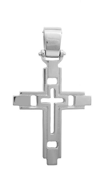 Σταυροί Βάπτισης - Αρραβώνα Σταυρός λευκόχρυσος 14Κ 011462 011462 Ανδρικό Χρυσός 14 Καράτια