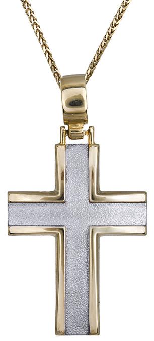 Βαπτιστικοί Σταυροί με Αλυσίδα Κλασικός αντρικός σταυρός 14Κ C011481 011481C Ανδρικό Χρυσός 14 Καράτια