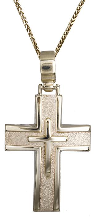 Βαπτιστικοί Σταυροί με Αλυσίδα Αντρικός σταυρός για βάπτιση 14Κ C011487 011487C Ανδρικό Χρυσός 14 Καράτια
