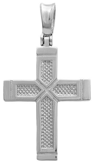Σταυροί Βάπτισης - Αρραβώνα Λευκόχρυσος σταυρός Κ14 011514 011514 Ανδρικό Χρυσός 14 Καράτια