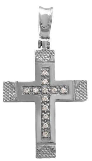 Σταυροί Βάπτισης - Αρραβώνα Σταυρός λευκόχρυσος 14Κ 011522 011522 Γυναικείο Χρυσός 14 Καράτια
