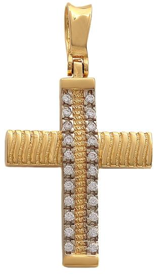 Σταυροί Βάπτισης - Αρραβώνα Χρυσός σταυρός 14Κ 011523 011523 Γυναικείο Χρυσός 14 Καράτια
