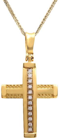 Βαπτιστικοί Σταυροί με Αλυσίδα Χρυσός σταυρός C011529 011529C Γυναικείο Χρυσός 14 Καράτια