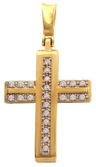 Σταυροί Βάπτισης - Αρραβώνα Χρυσός σταυρός Κ14 011539 Γυναικείο Χρυσός 14 Καράτια