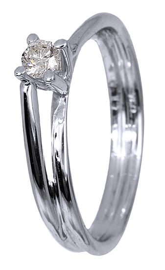 Λευκόχρυσο δαχτυλίδι 18Κ με διαμάντι 011561 011561 Χρυσός 18 Καράτια