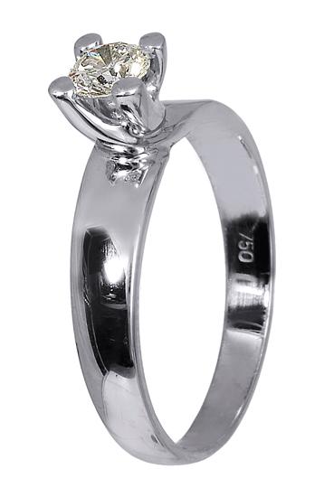 Μονόπετρο λευκόχρυσο δαχτυλίδι 18Κ με μπριγιάν 011563 011563 Χρυσός 18  Καράτια ff663348d9c