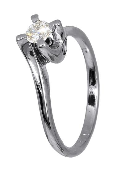 Δαχτυλίδι με μπριγιάν λευκόχρυσο 18Κ 011579 Χρυσός 18 Καράτια