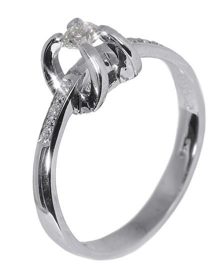 Λευκόχρυσο δαχτυλίδι 18Κ με διαμάντια 011583 011583 Χρυσός 18 Καράτια χρυσά κοσμήματα δαχτυλίδια μονόπετρα