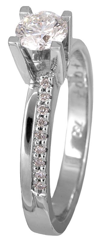 Δαχτυλίδι με μπριγιάν λευκόχρυσο 18Κ 011591 Χρυσός 18 Καράτια