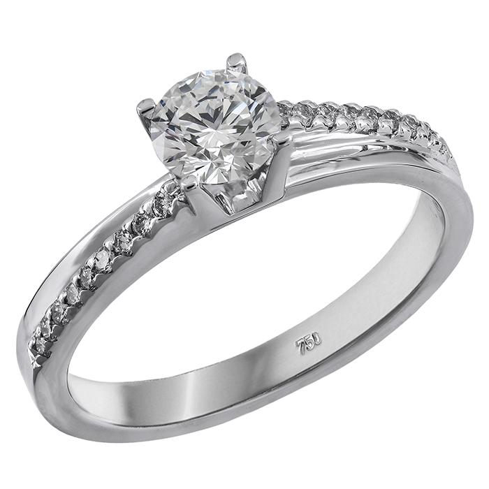 Δαχτυλίδι με μπριγιάν λευκόχρυσο 18Κ 011591 Χρυσός 18 Καράτια bd426964bc0
