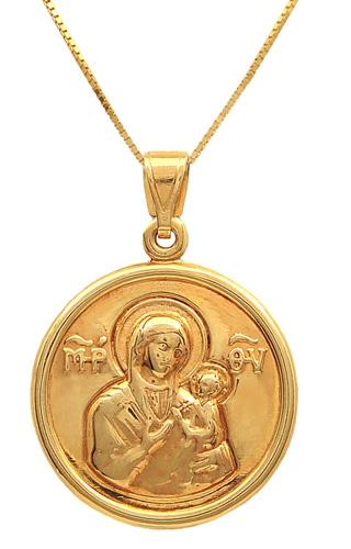 Χρυσό φυλαχτό διπλής όψεως 14Κ 011670 011670 Χρυσός 14 Καράτια