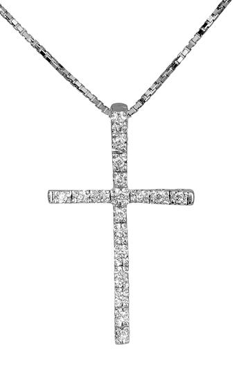 Βαπτιστικοί Σταυροί με Αλυσίδα Λευκόχρυσος σταυρός 18Κ με διαμάντια 011697 01169 σταυροί βάπτισης   γάμου βαπτιστικοί σταυροί με αλυσίδα