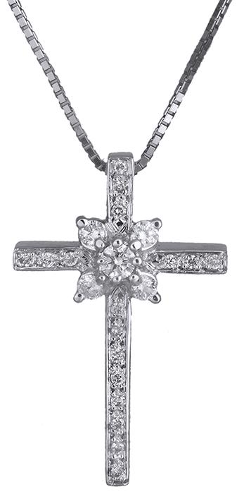 Βαπτιστικοί Σταυροί με Αλυσίδα Σταυρός γυναικείος λευκόχρυσος 18Κ με διαμάντια 0 σταυροί βάπτισης   γάμου βαπτιστικοί σταυροί με αλυσίδα