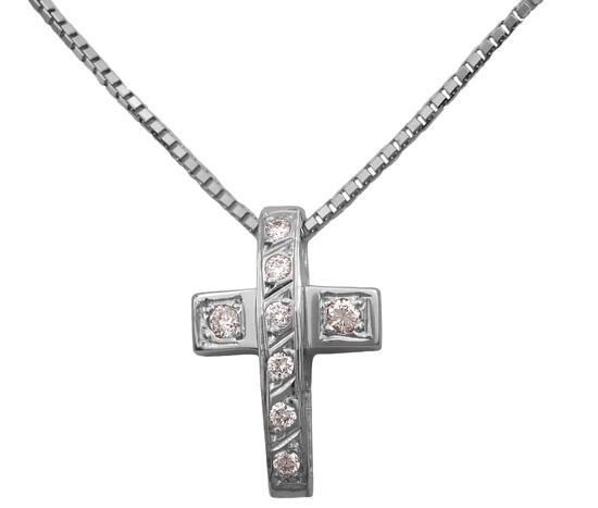 Λευκόχρυσος σταυρός με διαμάντια 18Κ 011731 011731 Χρυσός 18 Καράτια χρυσά κοσμήματα σταυροί