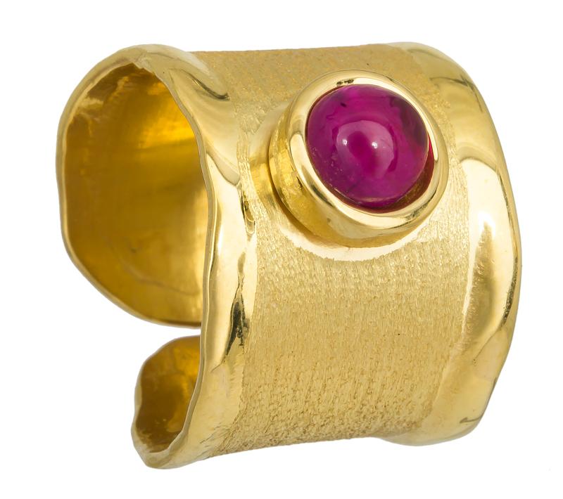 Σεβαλιέ επίχρυσο ασημένιο δαχτυλίδι 925 011794 011794 Ασήμι
