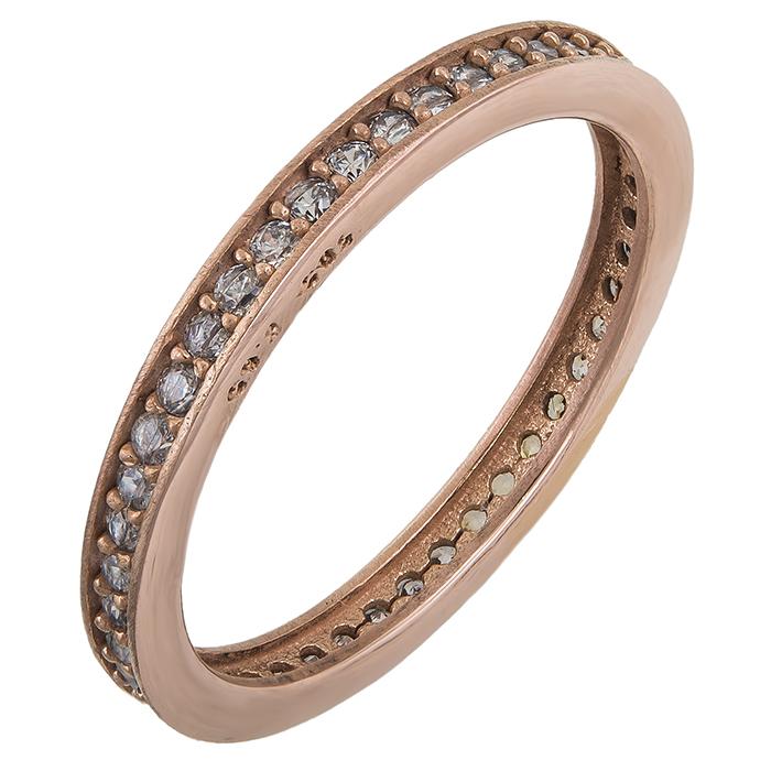 Ολόβερο ροζ χρυσό δαχτυλίδι 14Κ 011855 011855 Χρυσός 14 Καράτια χρυσά κοσμήματα δαχτυλίδια σειρέ ολόβερα