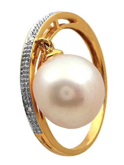 Χρυσό δαχτυλίδι Κ18 με μαργαριτάρι και διαμάντια 011962 Χρυσός 18 Καράτια