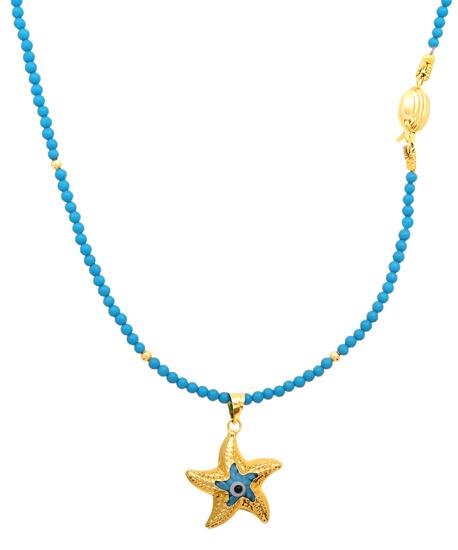 Μαργαριταρένιο κολιέ 012007 Χρυσός 14 Καράτια