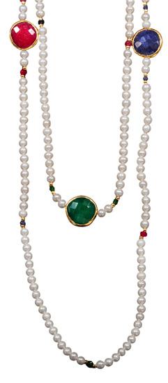 Μαργαριταρένιο κολιέ 012009 Χρυσός 14 Καράτια