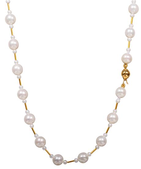 Κολιέ μαργαριταρένιο 012010 Χρυσός 14 Καράτια