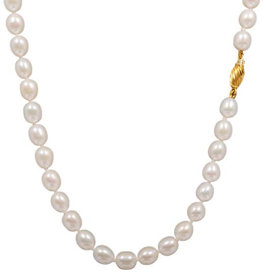 Μαργαριταρένιο κολιέ 012012 Χρυσός 14 Καράτια