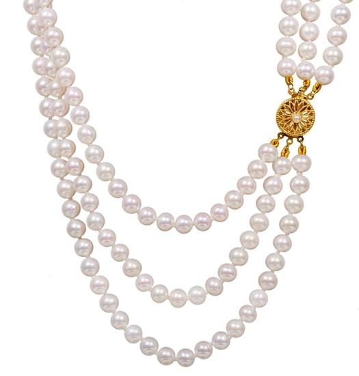 Κολιέ με μαργαριτάρια Κ14 012016 012016 Χρυσός 14 Καράτια