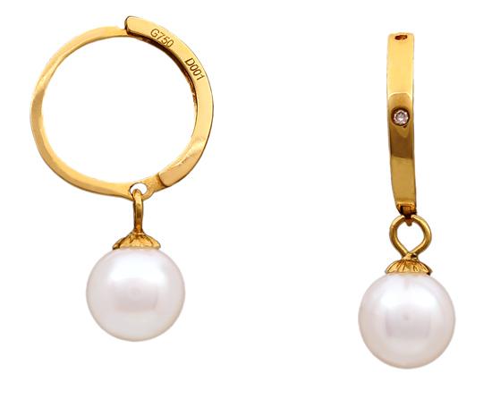 Χρυσά σκουλαρίκια 18Κ με μαργαριτάρια 012021 Χρυσός 18 Καράτια
