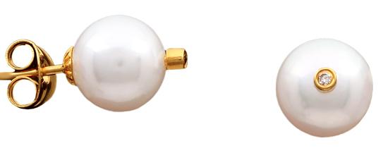 Καρφωτά σκουλαρίκια 18Κ με μαργαριτάρια 012023 Χρυσός 18 Καράτια