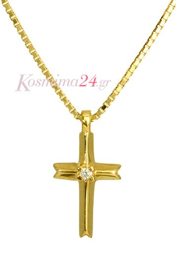 ΣΤΑΥΡΟΣ ΧΡΥΣΟΣ ΜΕ ΔΙΑΜΑΝΤΙ 012087 012087 Χρυσός 18 Καράτια