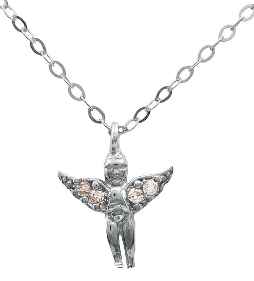 Λευκόχρυσος άγγελος 14Κ 012097 Χρυσός 14 Καράτια